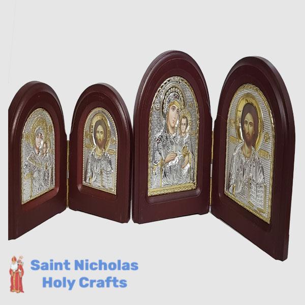 Olive-Wood-Saint-Nicholas-Holy-Crafts-Olive-Wood-2-Sided-Silver-Angel-Icon