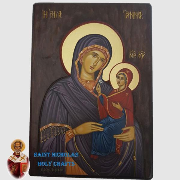 Olive-Wood-Saint-Nicholas-Holy-Crafts-Olive-Wood-Anna-Hand-Painted-Icon