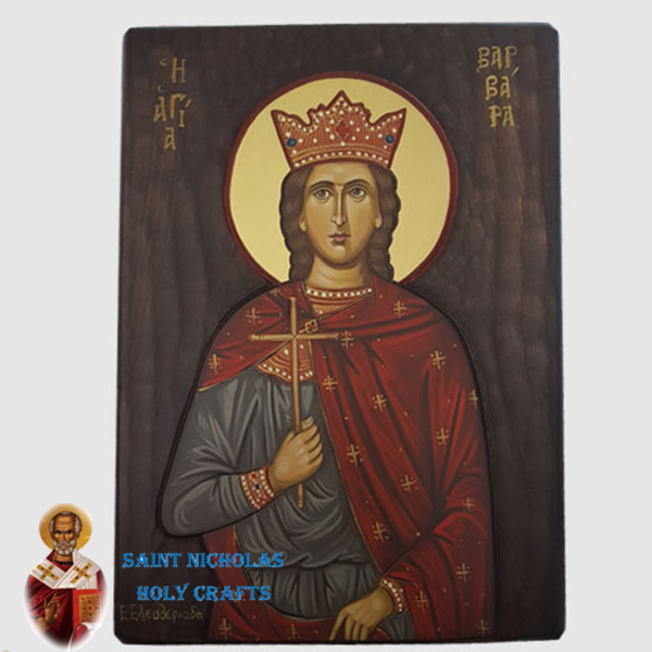 Olive-Wood-Saint-Nicholas-Holy-Crafts-Olive-Wood-Barbara-Hand-Painted-Icon