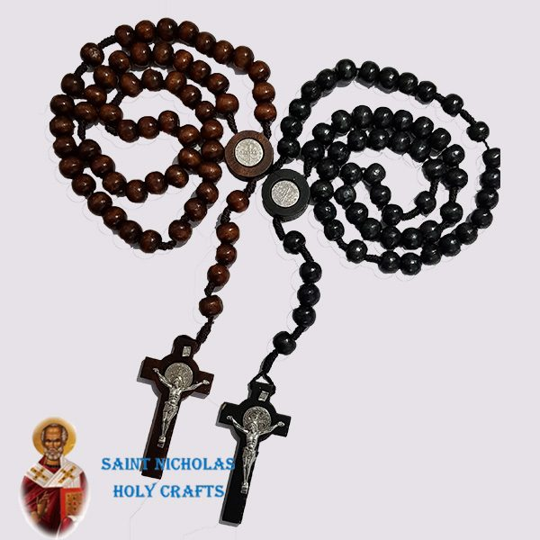Olive-Wood-Saint-Nicholas-Holy-Crafts-Olive-Wood-Benedict-Thread-Rosary
