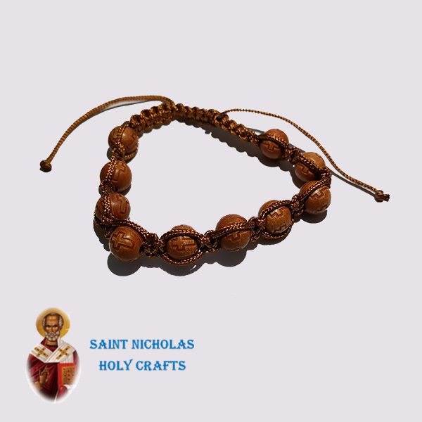 Olive-Wood-Saint-Nicholas-Holy-Crafts-Olive-Wood-Brown-Bracelet