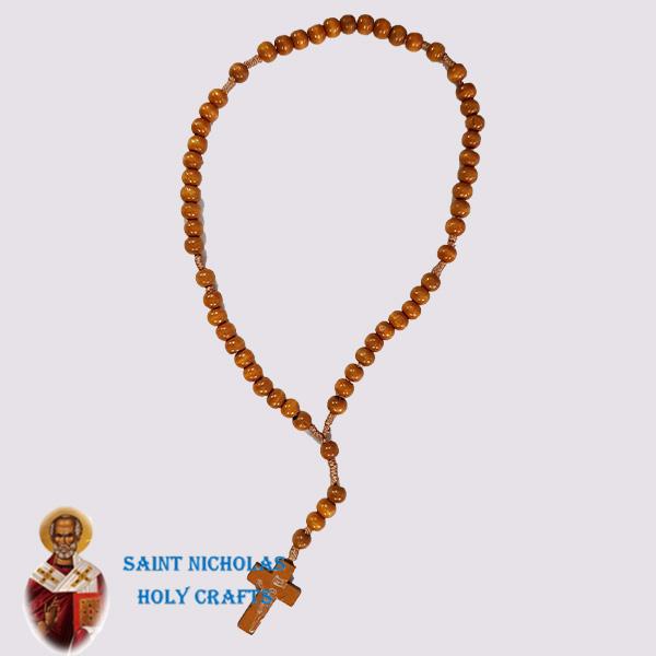 Olive-Wood-Saint-Nicholas-Holy-Crafts-Olive-Wood-Brown-Thread-Rosary