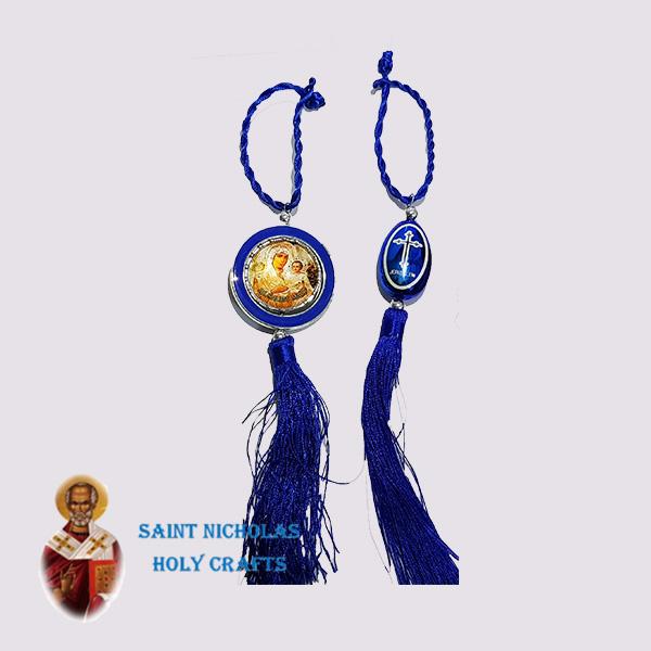 Olive-Wood-Saint-Nicholas-Holy-Crafts-Olive-Wood-Car-Blue-Hanger