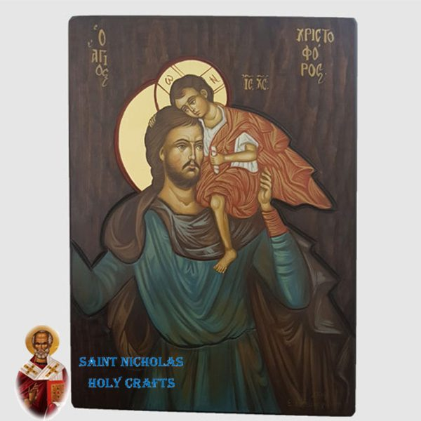 Olive-Wood-Saint-Nicholas-Holy-Crafts-Olive-Wood-Christopher-Hand-Painted-Icon