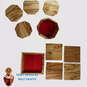 Olive-Wood-Saint-Nicholas-Holy-Crafts-Olive-Wood-Coaster