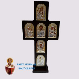 Olive-Wood-Saint-Nicholas-Holy-Crafts-Olive-Wood-Cross-Nikolaus-Silver-Icon