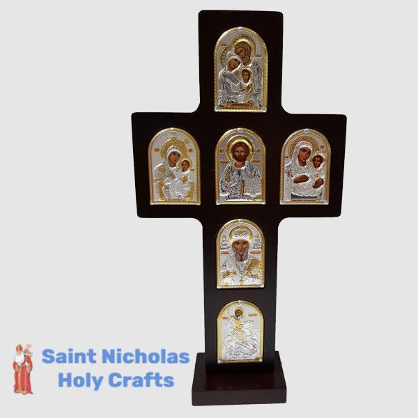 Olive-Wood-Saint-Nicholas-Holy-Crafts-Olive-Wood-Cross-Nikolaus-Silver-Icon