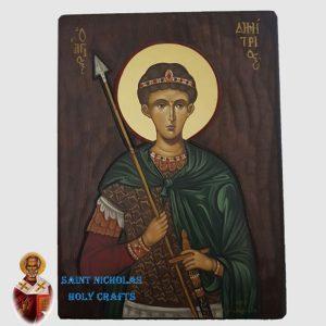 Olive-Wood-Saint-Nicholas-Holy-Crafts-Olive-Wood-Dimitry-Hand-Painted-Icon
