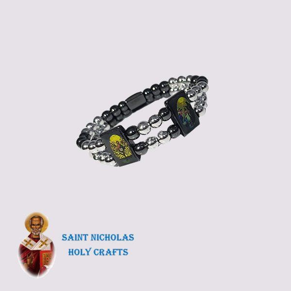 Olive-Wood-Saint-Nicholas-Holy-Crafts-Olive-Wood-Double-Hematite-Bracelet