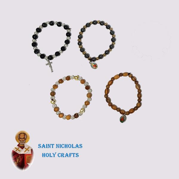 Olive-Wood-Saint-Nicholas-Holy-Crafts-Olive-Wood-Elastic-Bracelet