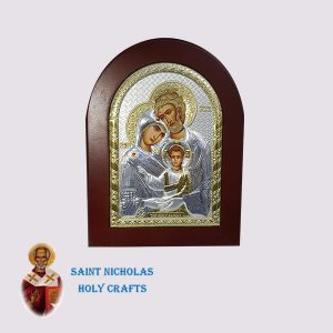 Olive-Wood-Saint-Nicholas-Holy-Crafts-Olive-Wood-Holy-Family-Silver-Andreas-Icon