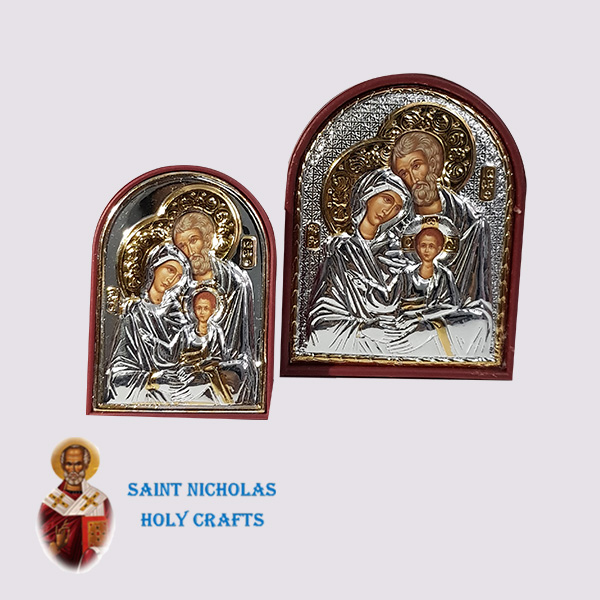 Olive-Wood-Saint-Nicholas-Holy-Crafts-Olive-Wood-Holy-Family-Silver-Angel-Icon-1