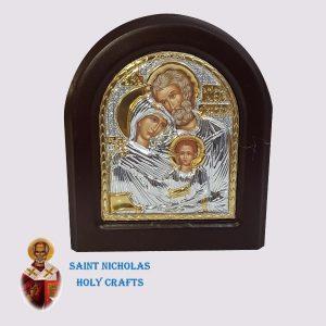 Olive-Wood-Saint-Nicholas-Holy-Crafts-Olive-Wood-Holy-Family-Silver-Angel-Icon