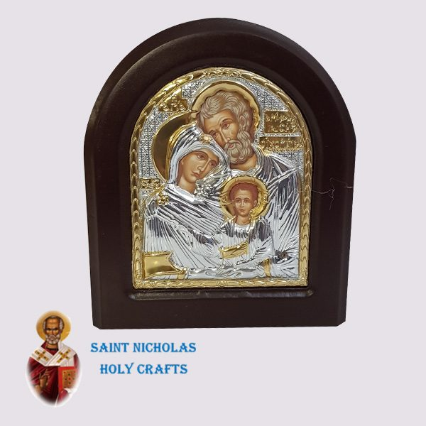 Olive-Wood-Saint-Nicholas-Holy-Crafts-Olive-Wood-Holy-Family-Silver-Angel-Icon