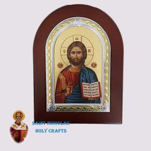 Olive-Wood-Saint-Nicholas-Holy-Crafts-Olive-Wood-Jesus-Frame-Nikolaus-Silver-Icon