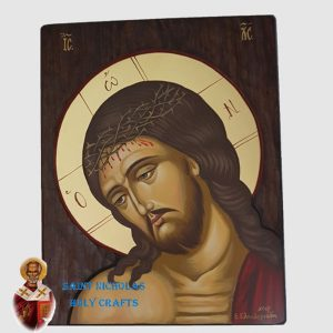 Olive-Wood-Saint-Nicholas-Holy-Crafts-Olive-Wood-Jesus-Head-Hand-Painted-Icon