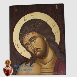 Olive-Wood-Saint-Nicholas-Holy-Crafts-Olive-Wood-Jesus-Head-Hand-Painted-Icon