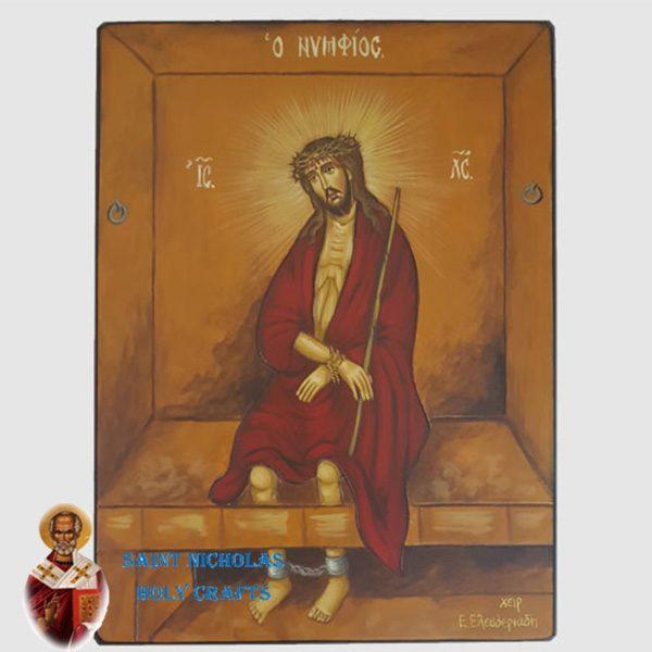 Olive-Wood-Saint-Nicholas-Holy-Crafts-Olive-Wood-Jesus-Jail-Hand-Painted-Icon