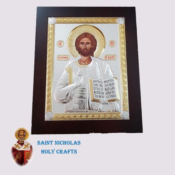 Olive-Wood-Saint-Nicholas-Holy-Crafts-Olive-Wood-Jesus-Nikolaus-Silver-Big-Icon
