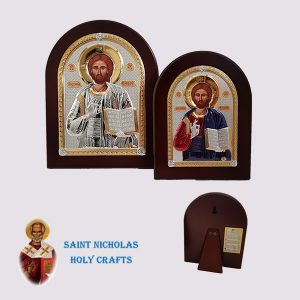 Olive-Wood-Saint-Nicholas-Holy-Crafts-Olive-Wood-Jesus-Nikolaus-Silver-Icon