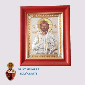 Olive-Wood-Saint-Nicholas-Holy-Crafts-Olive-Wood-Jesus-Nikolaus-Silver-Icon-With-Glass