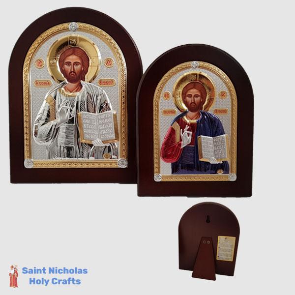 Olive-Wood-Saint-Nicholas-Holy-Crafts-Olive-Wood-Jesus-Nikolaus-Silver-Icon