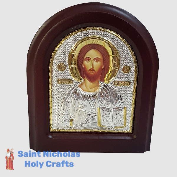 Olive-Wood-Saint-Nicholas-Holy-Crafts-Olive-Wood-Jesus-Silver-Angel-Icon