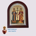 Olive-Wood-Saint-Nicholas-Holy-Crafts-Olive-Wood-Konstantinos-&-Helen-Frame-Nikolaus-Silver-Icon