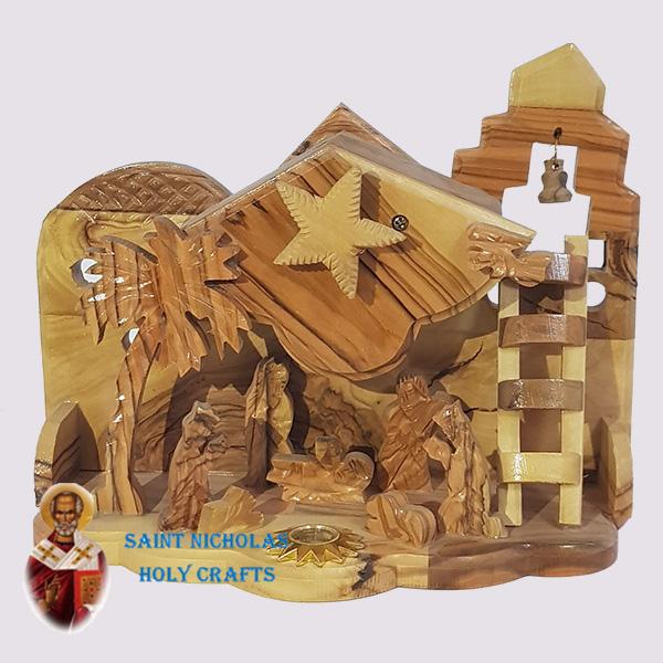 Olive-Wood-Saint-Nicholas-Holy-Crafts-Olive-Wood-Ladder-Nativity-Set