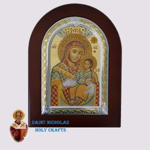 Olive-Wood-Saint-Nicholas-Holy-Crafts-Olive-Wood-Mary-Of-Bethlehem-Frame-Nikolaus-Silver-Icon