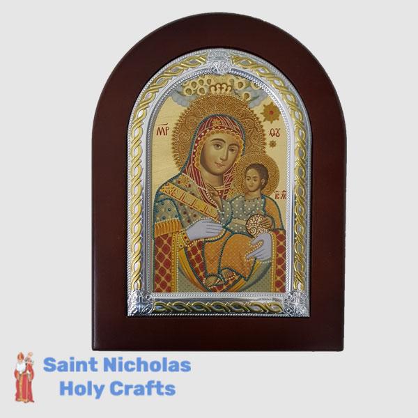 Olive-Wood-Saint-Nicholas-Holy-Crafts-Olive-Wood-Mary-Of-Bethlehem-Frame-Nikolaus-Silver-Icon