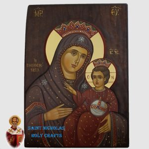 Olive-Wood-Saint-Nicholas-Holy-Crafts-Olive-Wood-Mary-Of-Bethlehem-Hand-Painted-Icon