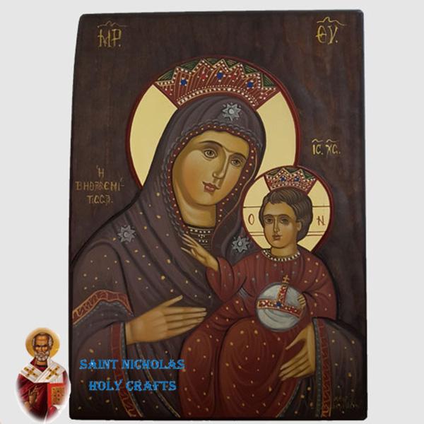 Olive-Wood-Saint-Nicholas-Holy-Crafts-Olive-Wood-Mary-Of-Bethlehem-Hand-Painted-Icon