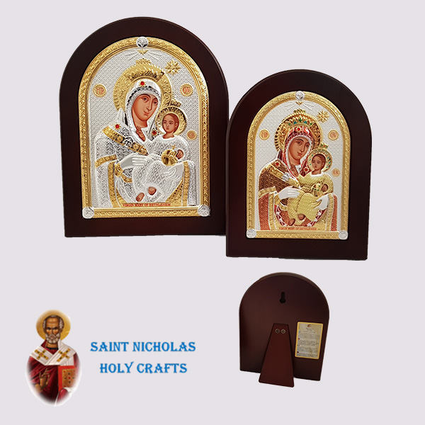 Olive-Wood-Saint-Nicholas-Holy-Crafts-Olive-Wood-Mary-Of-Bethlehem-Nikolaus-Silver-Icon
