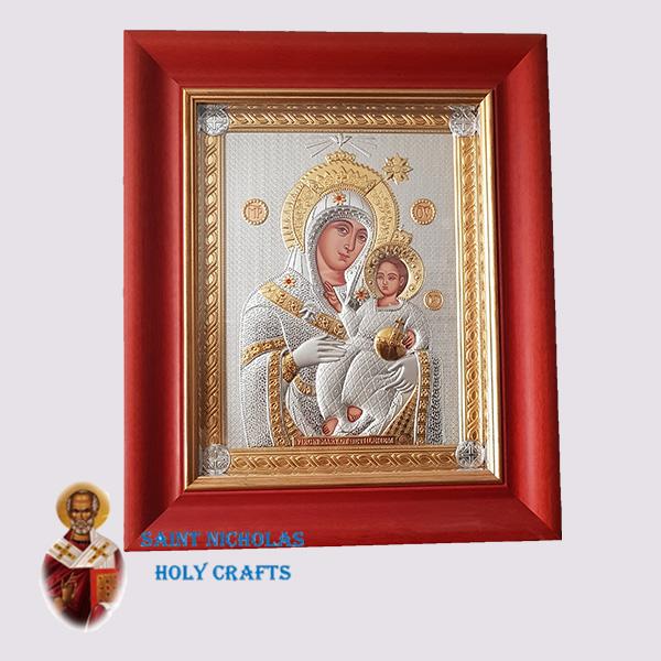 Olive-Wood-Saint-Nicholas-Holy-Crafts-Olive-Wood-Mary-Of-Bethlehem-Nikolaus-Silver-Icon-With-Glass