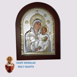 Olive-Wood-Saint-Nicholas-Holy-Crafts-Olive-Wood-Mary-Of-Bethlehem-Silver-Andreas-Icon