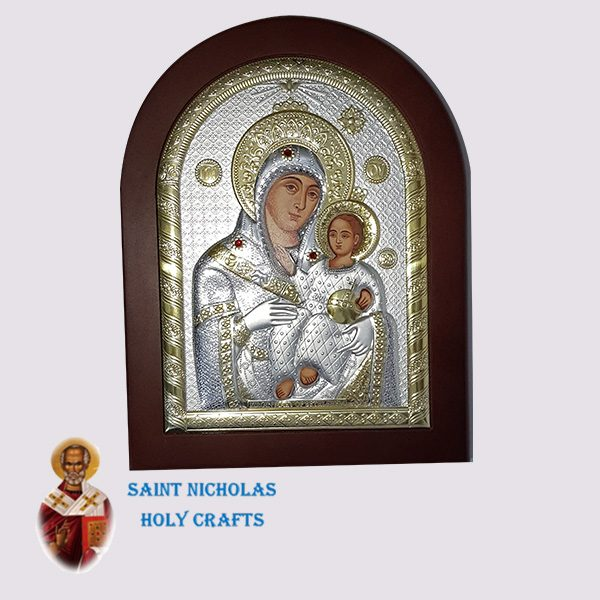 Olive-Wood-Saint-Nicholas-Holy-Crafts-Olive-Wood-Mary-Of-Bethlehem-Silver-Andreas-Icon