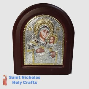 Olive-Wood-Saint-Nicholas-Holy-Crafts-Olive-Wood-Mary-Of-Bethlehem-Silver-Angel-Icon