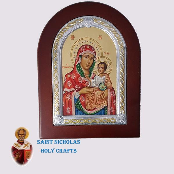 Olive-Wood-Saint-Nicholas-Holy-Crafts-Olive-Wood-Mary-Of-Jerusalem-Frame-Nikolaus-Silver-Icon