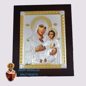 Olive-Wood-Saint-Nicholas-Holy-Crafts-Olive-Wood-Mary-Of-Jerusalem-Nikolaus-Silver-Big-Icon