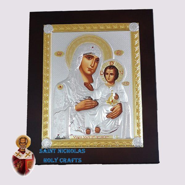 Olive-Wood-Saint-Nicholas-Holy-Crafts-Olive-Wood-Mary-Of-Jerusalem-Nikolaus-Silver-Big-Icon