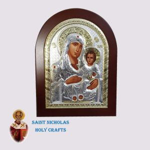 Olive-Wood-Saint-Nicholas-Holy-Crafts-Olive-Wood-Mary-Of-Jerusalem-Silver-Andreas-Icon