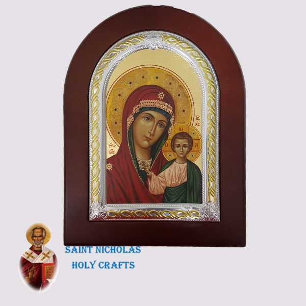 Olive-Wood-Saint-Nicholas-Holy-Crafts-Olive-Wood-Mary-Of-Kazan-Frame-Nikolaus-Silver-Icon