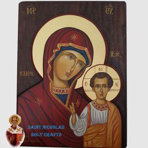 Olive-Wood-Saint-Nicholas-Holy-Crafts-Olive-Wood-Mary-Of-Kazan-Hand-Painted-Icon