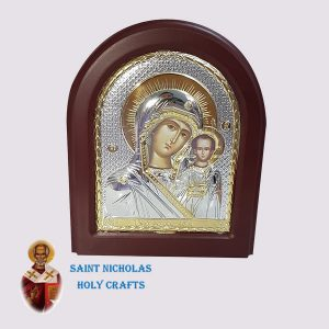 Olive-Wood-Saint-Nicholas-Holy-Crafts-Olive-Wood-Mary-Of-Kazan-Silver-Angel-Icon