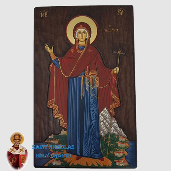 Olive-Wood-Saint-Nicholas-Holy-Crafts-Olive-Wood-Mary-Of-Mountain-Hand-Painted-Icon