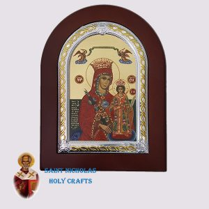 Olive-Wood-Saint-Nicholas-Holy-Crafts-Olive-Wood-Mary-Of-Roses-Frame-Nikolaus-Silver-Icon