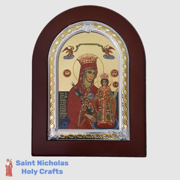 Olive-Wood-Saint-Nicholas-Holy-Crafts-Olive-Wood-Mary-Of-Roses-Frame-Nikolaus-Silver-Icon