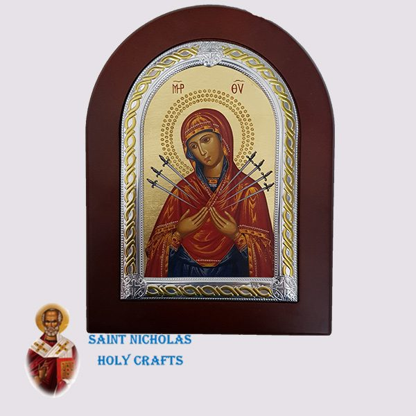 Olive-Wood-Saint-Nicholas-Holy-Crafts-Olive-Wood-Mary-With-7-Swords-Frame-Nikolaus-Silver-Icon