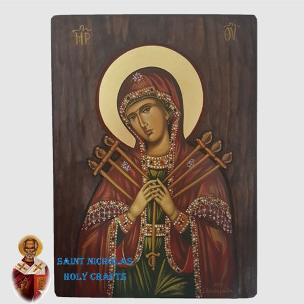 Olive-Wood-Saint-Nicholas-Holy-Crafts-Olive-Wood-Mary-With-7-Swords-Hand-Painted-Icon